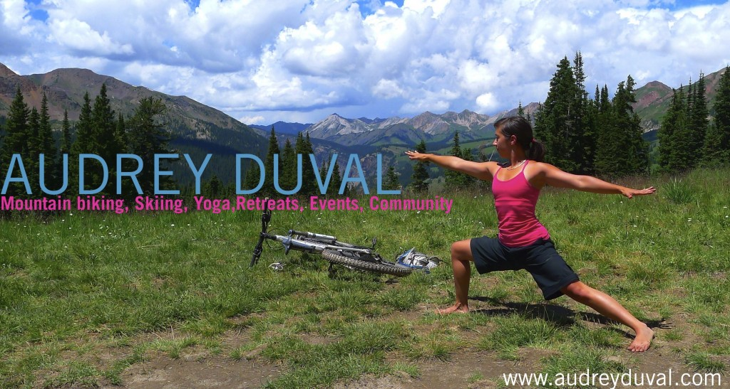 Audrey Mountain biking and Yoga